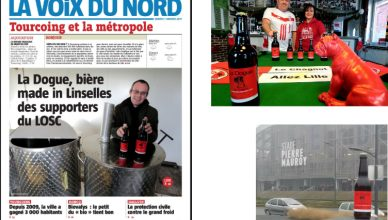 Le Chagniot (Clud de supporters lillois à Tourcoing) à sollicité L'Atelier des Brasseurs pour créer La Dogue, bière blonde