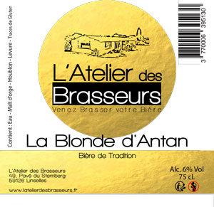 La Blonde d'Antan, la dernière née de L'Atelier des Brasseurs