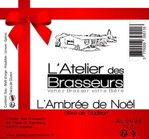 L'Ambrée de Noël de l'Atelier des Brasseurs