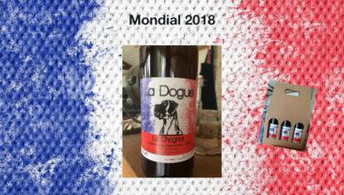 La Dogue du Chagnot aux couleurs de l'équipe de France de Foot