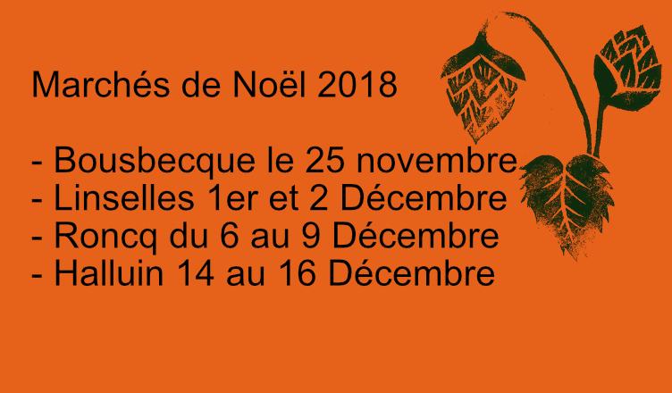 Rendez-vous sur les Marchés de Noël de Bousbecque, Linselles, Roncq et Halluin